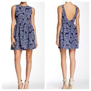 Love Ady Paisley Print Backless Sundress Size M